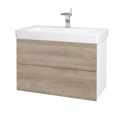 Dreja - Kúpeľňová skriňa VARIANTE SZZ2 85 - N01 Bílá lesk / D17 Colorado (195458)
