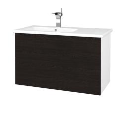 Dreja - Kúpeľňová skriňa VARIANTE SZZ2 90 (umývadlo Euphoria) - N01 Bílá lesk / D08 Wenge (189297)