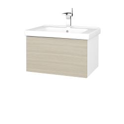 Dreja - Kúpeľňová skriňa VARIANTE SZZ 65 (umývadlo Harmonia) - N01 Bílá lesk / D04 Dub (190965)