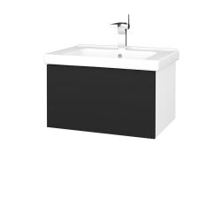 Dreja - Kúpeľňová skriňa VARIANTE SZZ 65 (umývadlo Harmonia) - N01 Bílá lesk / L03 Antracit vysoký lesk (191191)
