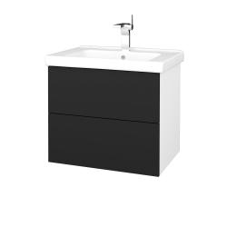Dreja - Kúpeľňová skriňa VARIANTE SZZ2 65 (umývadlo Harmonia) - N01 Bílá lesk / L03 Antracit vysoký lesk (191535)