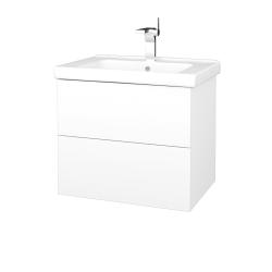 Dreja - Kúpeľňová skriňa VARIANTE SZZ2 65 (umývadlo Harmonia) - N01 Bílá lesk / M01 Bílá mat (191559)