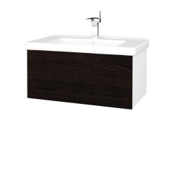 Dreja - Kúpeľňová skriňa VARIANTE SZZ 80 (umývadlo Harmonia) - N01 Bílá lesk / D08 Wenge (191894)