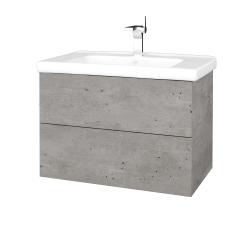 Dreja - Kúpeľňová skriňa VARIANTE SZZ2 80 (umývadlo Harmonia) - D01 Beton / D01 Beton (192105)