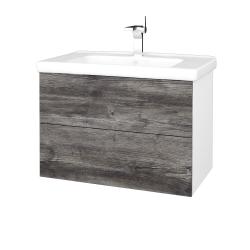 Dreja - Kúpeľňová skriňa VARIANTE SZZ2 80 (umývadlo Harmonia) - N01 Bílá lesk / D10 Borovice Jackson (192365)