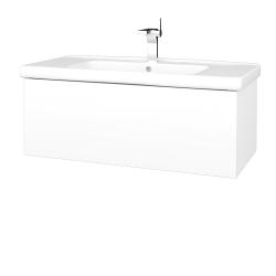 Dreja - Kúpeľňová skriňa VARIANTE SZZ 100 (umývadlo Harmonia) - N01 Bílá lesk / L01 Bílá vysoký lesk (192860)