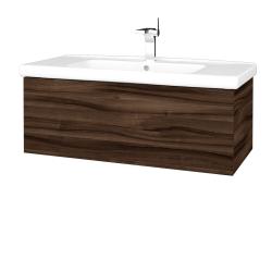 Dreja - Kúpeľňová skriňa VARIANTE SZZ 100 (umývadlo Harmonia) - D06 Ořech / D06 Ořech (192594)