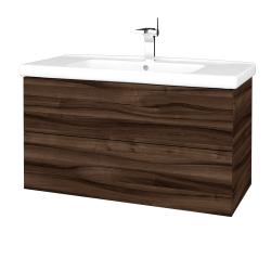 Dreja - Kúpeľňová skriňa VARIANTE SZZ2 100 (umývadlo Harmonia) - D06 Ořech / D06 Ořech (193058)