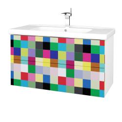 Dreja - Kúpeľňová skriňa VARIANTE SZZ2 100 (umývadlo Harmonia) - N01 Bílá lesk / IND Individual (193317)