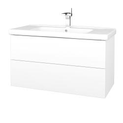 Dreja - Kúpeľňová skriňa VARIANTE SZZ2 100 (umývadlo Harmonia) - N01 Bílá lesk / M01 Bílá mat (193355)