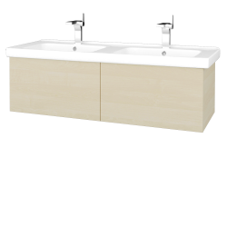 Dreja - Kúpeľňová skriňa VARIANTE SZZ2 125 (umývadlo Harmonia) - D02 Bříza / D02 Bříza (193461)