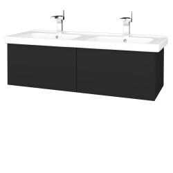 Dreja - Kúpeľňová skriňa VARIANTE SZZ2 125 (umývadlo Harmonia) - L03 Antracit vysoký lesk / L03 Antracit vysoký lesk (193591)