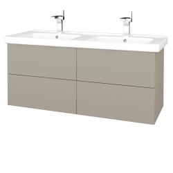 Dreja - Kúpeľňová skriňa VARIANTE SZZ4 125 (umývadlo Harmonia) - L04 Béžová vysoký lesk / L04 Béžová vysoký lesk (194055)