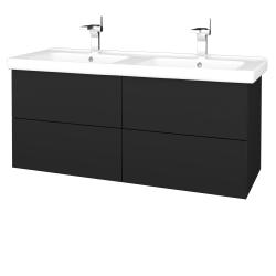 Dreja - Kúpeľňová skriňa VARIANTE SZZ4 125 (umývadlo Harmonia) - L03 Antracit vysoký lesk / L03 Antracit vysoký lesk (194048)