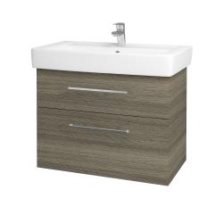 Dreja - Kúpeľňová skriňa Q MAX SZZ2 80 - D03 Cafe / Úchytka T04 / D03 Cafe (115654E)