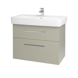 Dreja - Kúpeľňová skriňa Q MAX SZZ2 80 - L04 Béžová vysoký lesk / Úchytka T04 / L04 Béžová vysoký lesk (115760E)