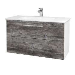 Dreja - Kúpeľňová skriňa GIO SZZ2 100 - N01 Bílá lesk / Úchytka T04 / D10 Borovice Jackson (129682E)