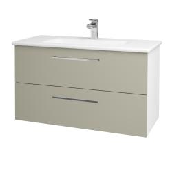 Dreja - Kúpeľňová skriňa GIO SZZ2 100 - N01 Bílá lesk / Úchytka T04 / L04 Béžová vysoký lesk (129729E)