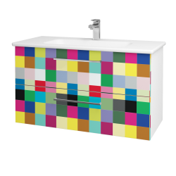 Dreja - Kúpeľňová skriňa GIO SZZ2 100 - N01 Bílá lesk / Úchytka T04 / IND Individual (129736E)