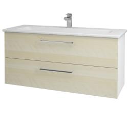 Dreja - Kúpeľňová skriňa GIO SZZ2 120 - N01 Bílá lesk / Úchytka T04 / D02 Bříza (129903E)