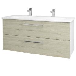 Dreja - Kúpeľňová skriňa GIO SZZ2 120 - N01 Bílá lesk / Úchytka T04 / D05 Oregon (129934EU)