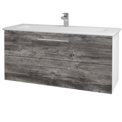 Dreja - Kúpeľňová skriňa GIO SZZ2 120 - N01 Bílá lesk / Úchytka T04 / D10 Borovice Jackson (129972E)