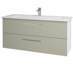 Dreja - Kúpeľňová skriňa GIO SZZ2 120 - N01 Bílá lesk / Úchytka T04 / L04 Béžová vysoký lesk (130015E)