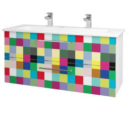 Dreja - Kúpeľňová skriňa GIO SZZ2 120 - N01 Bílá lesk / Úchytka T04 / IND Individual (130022EU)
