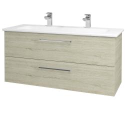 Dreja - Kúpeľňová skriňa GIO SZZ2 120 - D05 Oregon / Úchytka T04 / D05 Oregon (130077EU)