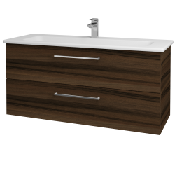 Dreja - Kúpeľňová skriňa GIO SZZ2 120 - D06 Ořech / Úchytka T04 / D06 Ořech (130084E)