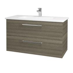 Dreja - Kúpeľňová skriňa GIO SZZ2 100 - D03 Cafe / Úchytka T04 / D03 Cafe (130640E)