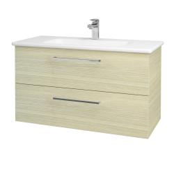Dreja - Kúpeľňová skriňa GIO SZZ2 100 - D04 Dub / Úchytka T04 / D04 Dub (130657E)