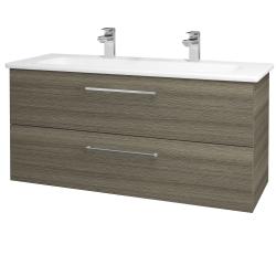 Dreja - Kúpeľňová skriňa GIO SZZ2 120 - D03 Cafe / Úchytka T04 / D03 Cafe (130718EU)