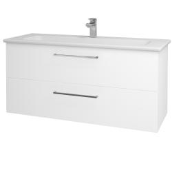 Dreja - Kúpeľňová skriňa GIO SZZ2 120 - N01 Bílá lesk / Úchytka T04 / L01 Bílá vysoký lesk (130800E)