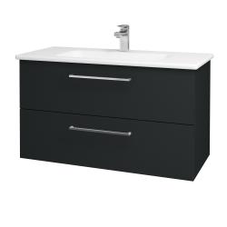 Dreja - Kúpeľňová skriňa GIO SZZ2 100 - L03 Antracit vysoký lesk / Úchytka T04 / L03 Antracit vysoký lesk (130824E)