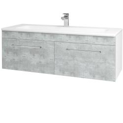 Dreja - Kúpeľňová skriňa ASTON SZZ2 120 - N01 Bílá lesk / Úchytka T04 / D01 Beton (131166E)