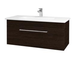 Dreja - Kúpeľňová skriňa ASTON SZZ 100 - D08 Wenge / Úchytka T04 / D08 Wenge (131432E)
