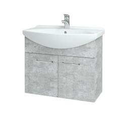 Dreja - Kúpeľňová skriňa TAKE IT SZD2 75 - D01 Beton / Úchytka T04 / D01 Beton (133306E)