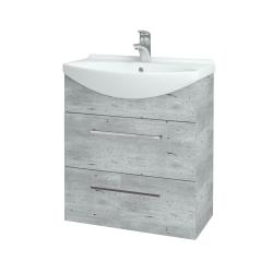 Dreja - Kúpeľňová skriňa TAKE IT SZZ2 65 - D01 Beton / Úchytka T04 / D01 Beton (133757E)