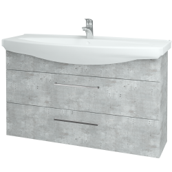 Dreja - Kúpeľňová skriňa TAKE IT SZZ2 120 - D01 Beton / Úchytka T04 / D01 Beton (134310E)