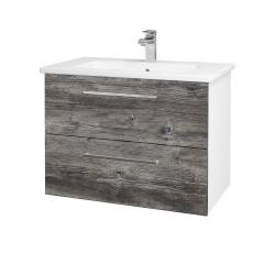 Dreja - Kúpeľňová skriňa GIO SZZ2 80 - N01 Bílá lesk / Úchytka T04 / D10 Borovice Jackson (146290E)