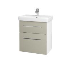Dreja - Kúpeľňová skriňa GO SZZ2 55 - N01 Bílá lesk / Úchytka T04 / L04 Béžová vysoký lesk (148393E)