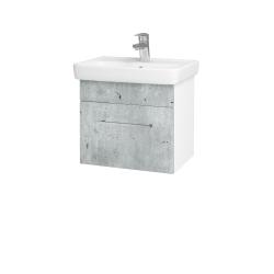 Dreja - Kúpeľňová skriňa SOLO SZZ 50 - N01 Bílá lesk / Úchytka T04 / D01 Beton (149970E)