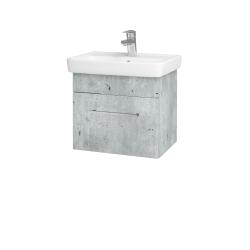 Dreja - Kúpeľňová skriňa SOLO SZZ 50 - D01 Beton / Úchytka T04 / D01 Beton (150037E)