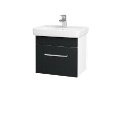 Dreja - Kúpeľňová skriňa SOLO SZZ 50 - N01 Bílá lesk / Úchytka T04 / L03 Antracit vysoký lesk (150068E)