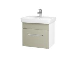 Dreja - Kúpeľňová skriňa SOLO SZZ 50 - N01 Bílá lesk / Úchytka T04 / L04 Béžová vysoký lesk (150075E)