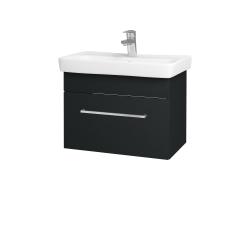Dreja - Kúpeľňová skriňa SOLO SZZ 60 - L03 Antracit vysoký lesk / Úchytka T04 / L03 Antracit vysoký lesk (150365E)