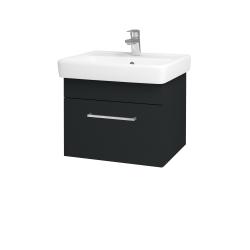 Dreja - Kúpeľňová skriňa Q UNO SZZ 55 - L03 Antracit vysoký lesk / Úchytka T04 / L03 Antracit vysoký lesk (150501E)