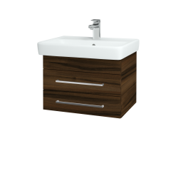Dreja - Kúpeľňová skriňa Q ZÁSUVKOVÉ SZZ2 60 - D06 Ořech / Úchytka T04 / D06 Ořech (151843E)