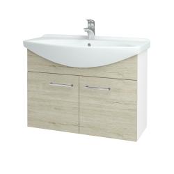 Dreja - Kúpeľňová skriňa TAKE IT SZD2 85 - N01 Bílá lesk / Úchytka T04 / D05 Oregon (152147E)